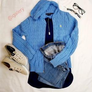 Ralph Lauren jean & knit sweater jacket bundle.